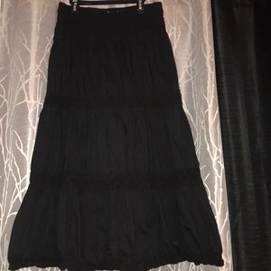 Black long skirt size M